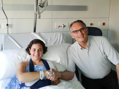 Ana Carrasco operada con éxito en Barcelona