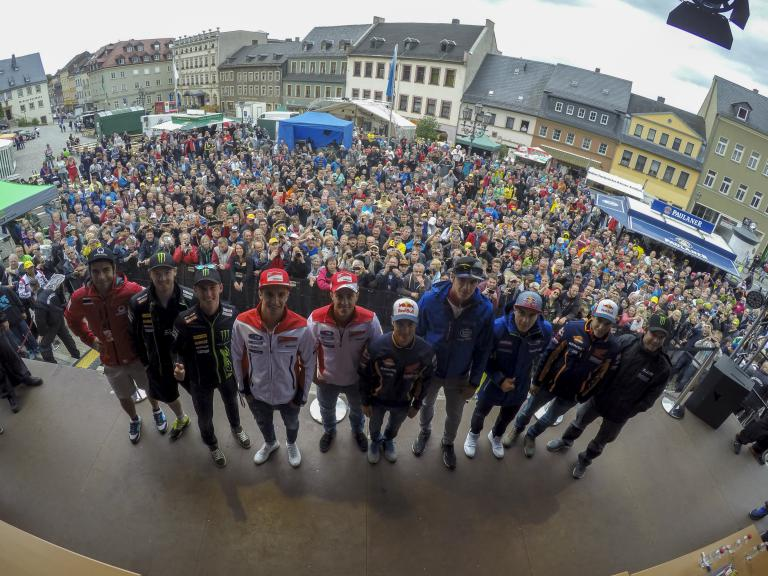 MotoGP fans at the Sachsenring