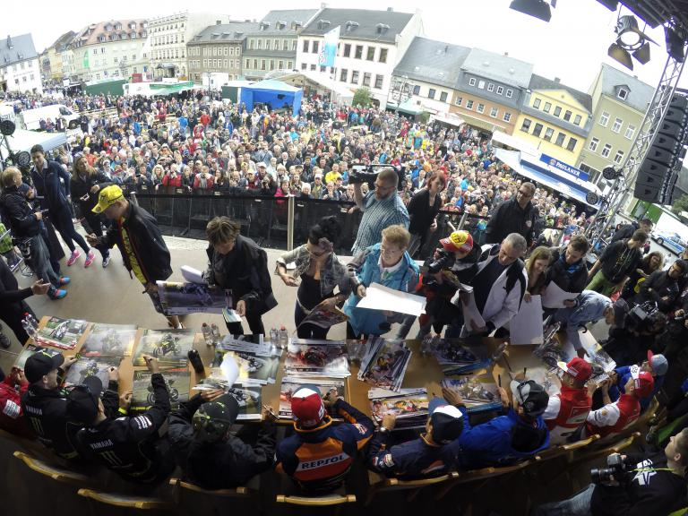 MotoGP fans at the Sachsenring