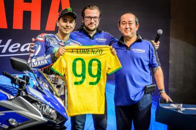 Lorenzo visita Brasil antes de correr en Indianápolis