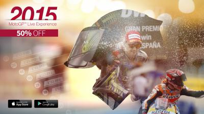 50% off the official MotoGP™ Live Experience app