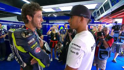 Rossi answers: Would you let Hamilton ride your bike?