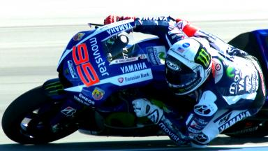 Lorenzo ends first day of practice on top at Indy