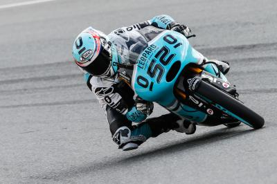 Kent quickest despite crashing in Moto3™ FP1