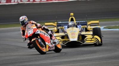 Brickyard hosts showdown between MotoGP™ bike and IndyCar