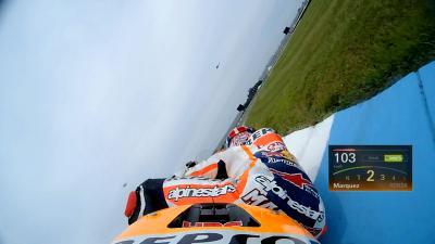 OnBoard en qualifications avec Marquez