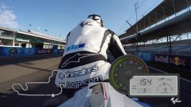 Experience a lap of the Indianapolis Motor Speedway with motogp.com's Dylan Gray.