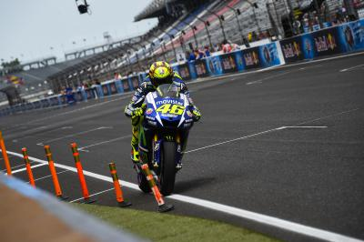 "Rossi: ""I wasn't strong enough to start from the second row"""