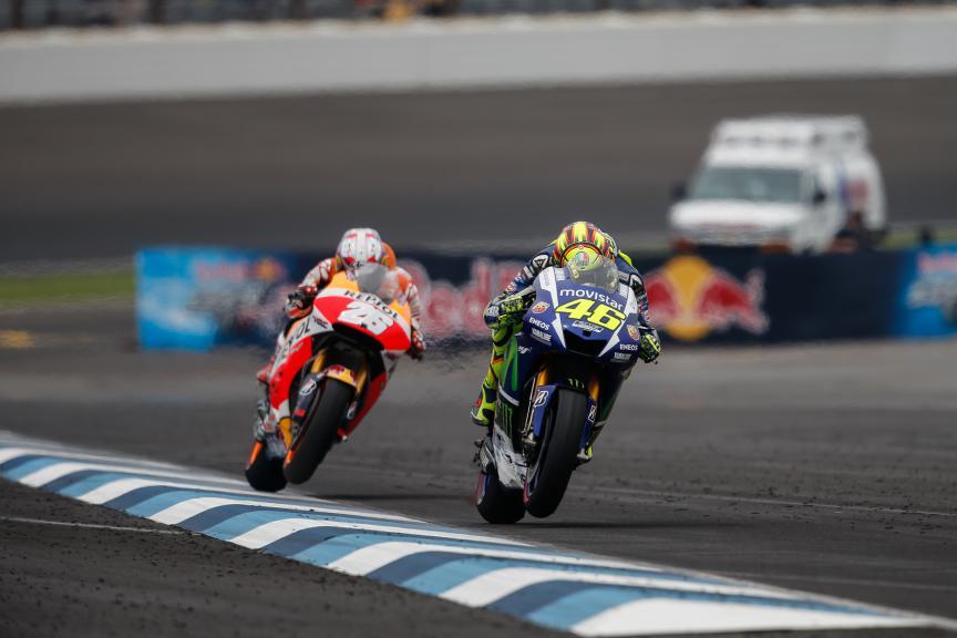Valentino Rossi, Dani Pedrosa, Movistar Yamaha MotoGP, Repsol Honda Team, Indy RACE