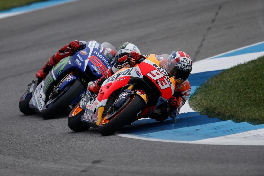 Marc Marquez, Jorge Lorenzo, Repsol Honda Team, Movistar Yamaha MotoGP, Indy RACE