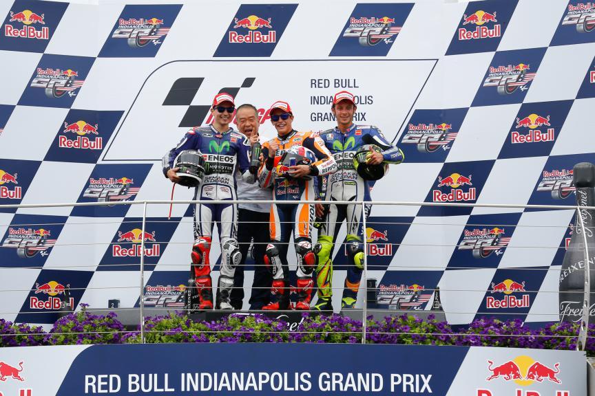 Marquez, Lorenzo, Rossi, Repsol Honda Team, Movistar Yamaha MotoGP, Indy RACE
