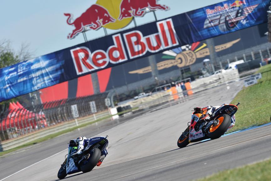 Marc Marquez, Jorge Lorenzo, Repsol Honda Team, Movistar Yamaha MotoGP, Indianapolis