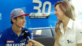 Every Thursday before the race motogp.com reporter Amy Dargan catches up with one of the riders - this week it's Viñales' turn.