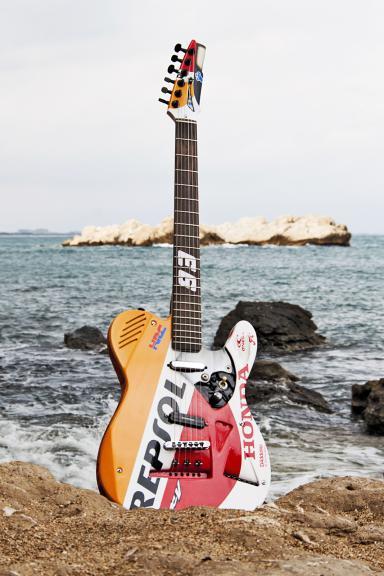 Marquez signed guitar