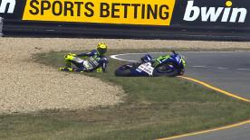 Valentino Rossi explains how his crash happened at Turn 13 on FP2.