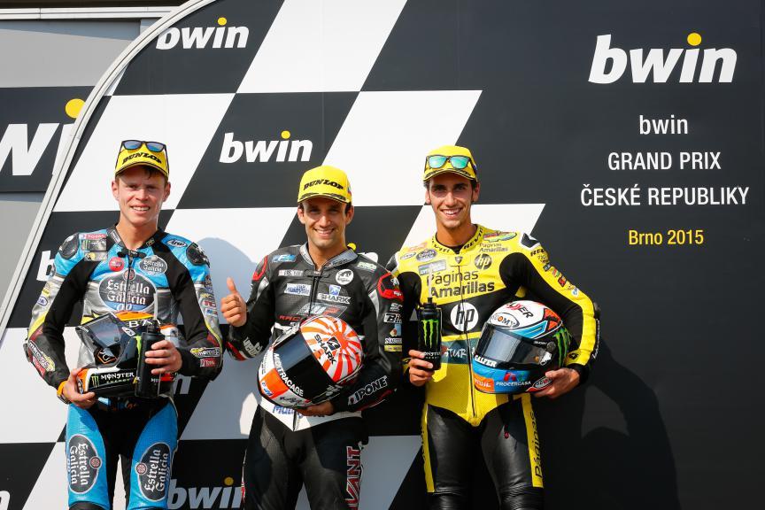 Rabat, Zarco, Rins, EG Marc VDS 0,0, Ajo Motorsport, Paginas Amarillas HP 40, Brno QP