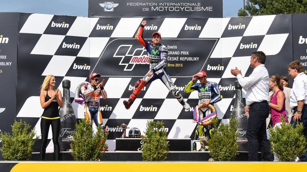 2015 Czech GP podium