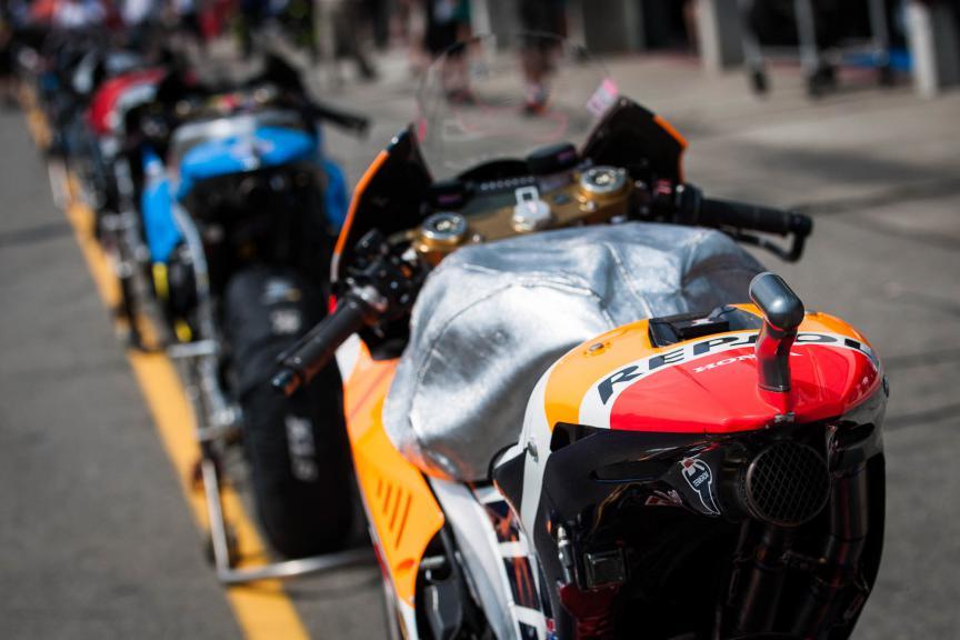 MotoGP Bikes in the Pit, Brno © 2015 Scott Jones, PHOTO.GP
