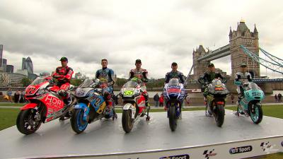Les pilotes MotoGP™ réunis au Tower Bridge