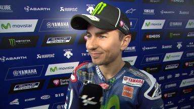 Lorenzo: 'The tyres went off very quickly'