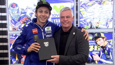 Rossi becomes first motorcycle racer in the BRDC