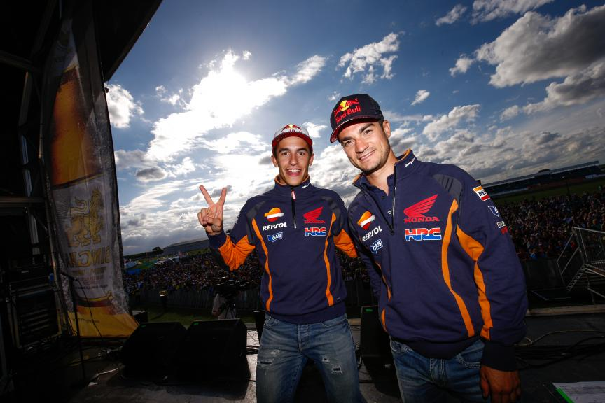 Marquez and Pedrosa, Riders For Health, British GP