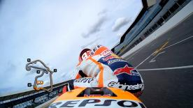 Relive Marquez's pole setting lap at Silverstone.