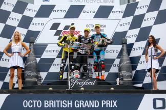 Rins, Zarco, Rabat, Paginas Amarillas HP 40, Ajo Motorsport, EG Marc VDS 0,0,  British GP RACE