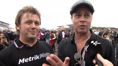 Brad Pitt at the #BritishGP
