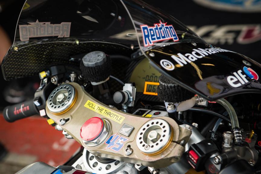 Scott Redding Honda detail, British GP © 2015 Scott Jones, PHOTO.GP