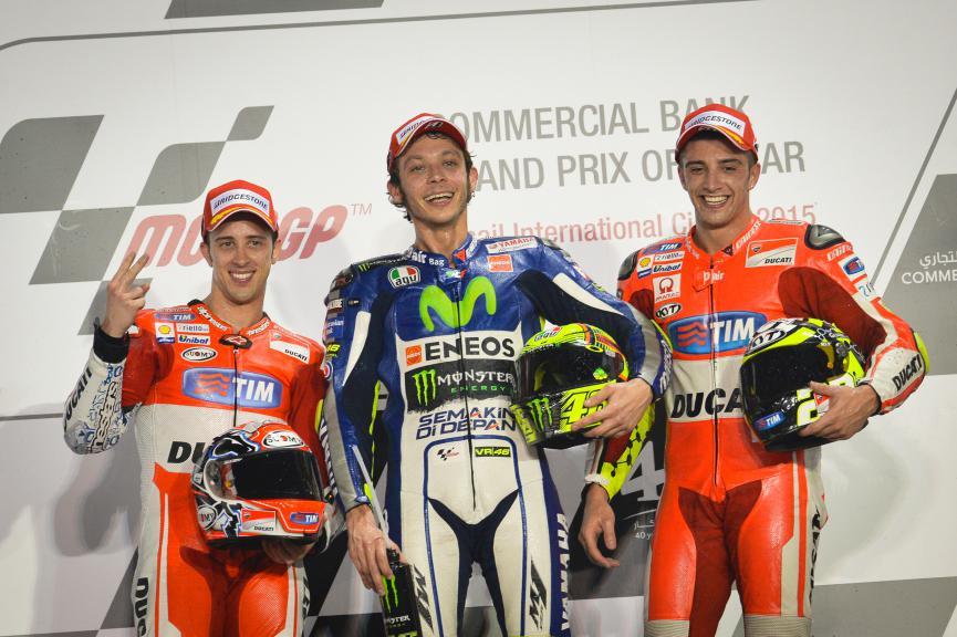 Italian Riders Dovizioso, Rossi and Iannone