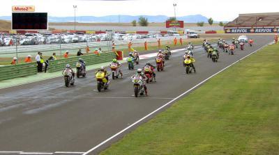 Vierge feiert CEV Moto2 Sieg von Albacete