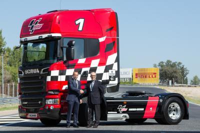Se presenta el Scania V8 MotoGP Limited Edition