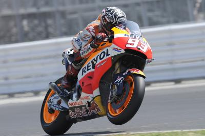 On board: Marc Márquez en el Misano Circuit