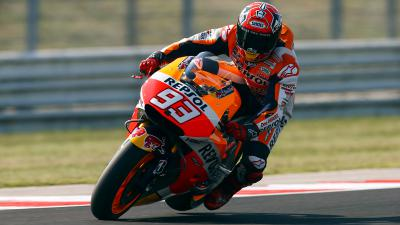 "Marquez: ""We tried a new swingarm"""