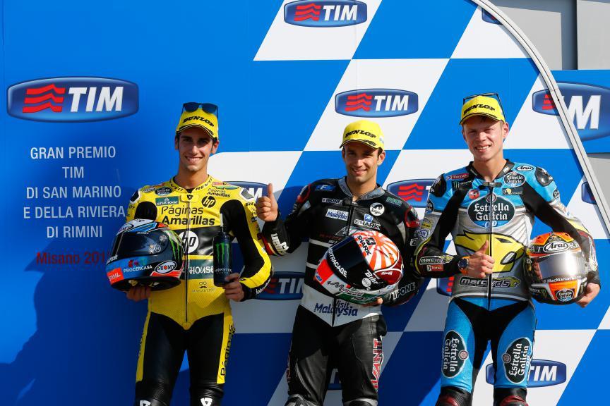 Rins, Zarco, Rabat, Paginas Amarillas HP 40, Ajo Motorsport, EG Marc VDS 0,0, San Marino GP QP