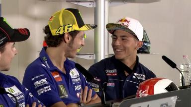 Rossi's new job as Bastianini's translator