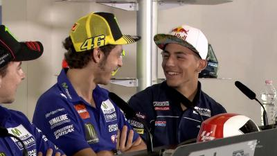Rossi's new job as Bastianini's translator