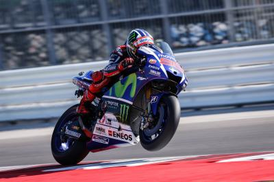 A Lorenzo le FP3, Rossi in recupero