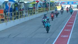 The full Warm Up session for the Moto3™ World Championship at the San Marino GP.