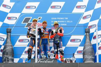 Oliveira, Bastianini, Antonelli, Red Bull KTM Ajo, Ongetta-Rivacold, Gresini Racing Team Moto3, San Marino GP RACE