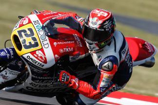 Antonelli marca ritmo no warm up matinal da Moto3™