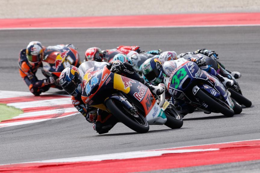 Miguel Oliveira, Enea Bastianini, Red Bull KTM Ajo, Gresini Racing Team Moto3, San Marino GP RACE