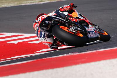 Marquez quickest out of the blocks in Warm Up