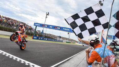 Marvellous Marquez wins amid Misano mayhem