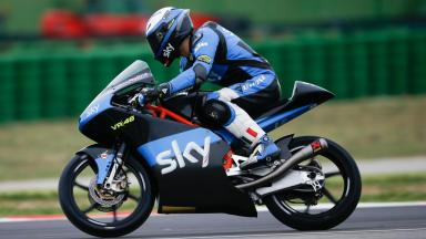 Action from the Moto3™ Misano Test