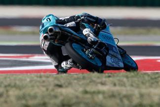 Moto3™ Piloten testen nach dem Rennen in Misano