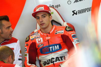 """Iannone: """"Os pneus de chuva ficaram logo acabados"""""""