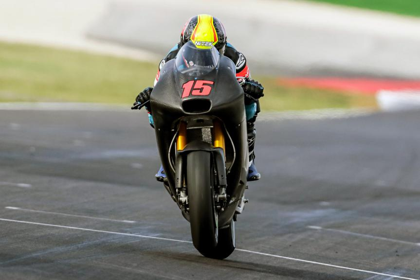 Alex de Angelis, E-Motion Iodaracing Team, Test Aprilia RS GP, Misano