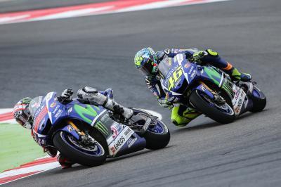 Rossi y Lorenzo, listos para continuar su batalla en Aragón